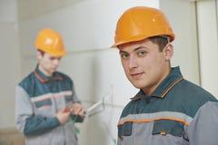 electricista Trabajo de cableado fotografía de archivo libre de regalías