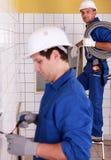 electricistas Foto de archivo