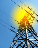 electricite定向塔 免版税图库摄影