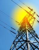 Electricite Gondelstiel Lizenzfreie Stockfotografie