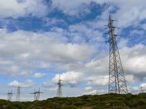 electricity συρμένο απομονωμένο χέρι λευκό ισχύος γραμμών στοκ εικόνες