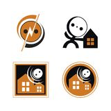 Electricity. Symbols of electricity at home Stock Images