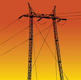 Electricity. Vector of energy transport construction Royalty Free Stock Photos