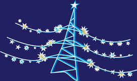 Electricity. New Year's tower in an image of a fur-tree Stock Images