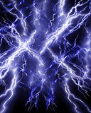 Electricity. Lightning or electricity on a dark background Royalty Free Stock Image
