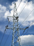 Electricity. Pylon - high or medium voltage in Poland Stock Photo