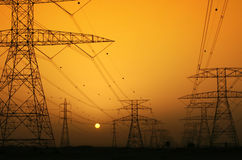 Electricity. Supply of Electricity. Industry of power and energy royalty free stock photos