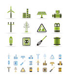 Electricity And Power Icons Stock Photo