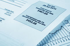 Electricity bill Royalty Free Stock Photo