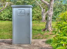 Electricity box in hdr Royalty Free Stock Photo