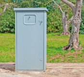 Electricity box. Little electricity box in the country Royalty Free Stock Image