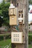 Electricity breaker box Stock Image