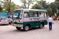 The electricity bus in India. Royalty Free Stock Images