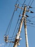 Electricity column Stock Photo