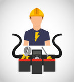 Electricity concept design Stock Photography