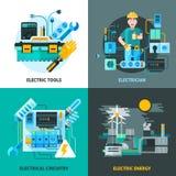 Electricity Concept Icons Set Stock Photo