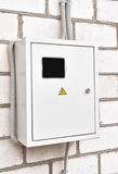 Electricity Control Box. On house wall royalty free stock photo
