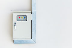 Electricity control box. Electricity switch power control box royalty free stock photography
