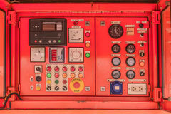 electricity Control panel of fuel power generator Royalty Free Stock Photo