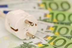 Electricity costs Royalty Free Stock Images