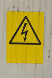 Electricity danger sign Royalty Free Stock Images