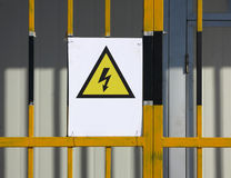 Electricity Danger sign Stock Photography
