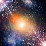 Electricity in deep space Stock Photo
