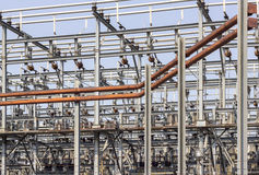 Electricity. A detailed image of components at a power plant Stock Images