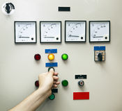 Electricity Control & Monitor Royalty Free Stock Image