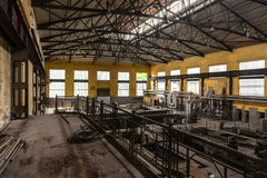 Electricity distribution hall in metal industry Stock Image