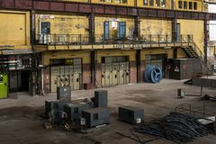 Electricity distribution hall in metal industry Royalty Free Stock Photos