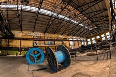 Electricity distribution hall in metal industry Stock Photography