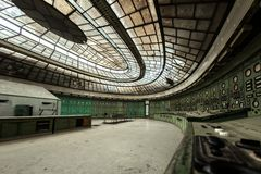 Electricity distribution hall in metal industry. Electricity distribution hall at the metal industry royalty free stock photos