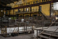 Electricity distribution hall in metal industry Royalty Free Stock Photo
