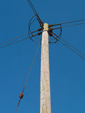 Electricity distribution pole uk Royalty Free Stock Image