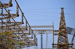 Electricity distribution structures. Abstract technology Royalty Free Stock Photography