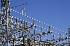 Electricity distribution structures. Abstract technology Stock Photo