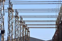 Electricity distribution structures. Abstract technology Stock Images