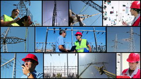 Electricity Distribution System stock video footage