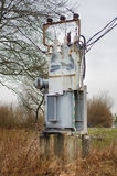 Electricity distribution transformer Stock Images