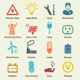 Electricity elements Royalty Free Stock Image