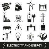 Electricity and enegry icons and symbol eps10 Royalty Free Stock Image