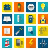 Electricity Energy Icons Set Royalty Free Stock Photography