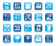Electricity and Energy source icons Stock Photo
