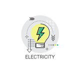 Electricity Energy Supply Power Invention Icon Stock Photo