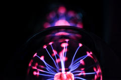 Electricity fire ball. Electricity fire-ball. Abstract photo of electric waves. Static electricity Stock Image