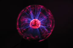 Electricity fire-ball. Photo of electric waves. Stock Photography