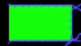 Electricity Frame - Electrical Arcs (Chroma Key) Stock Image