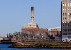 Electricity generation station in Brooklyn Royalty Free Stock Photography