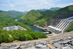 Electricity Generator front of Sri Nakharin Dam Stock Image